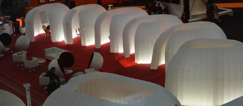 Inflatable structure office in a bag